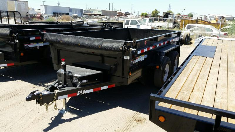 2018 PJ Trailers 72 in. Tandem Axle Dump (D3)