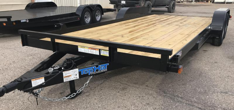 2019 Top Hat Trailers 83x20 CH Flatbed Trailer