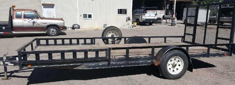2006 Load Trail Used 77x16 S/A Utility Trailer
