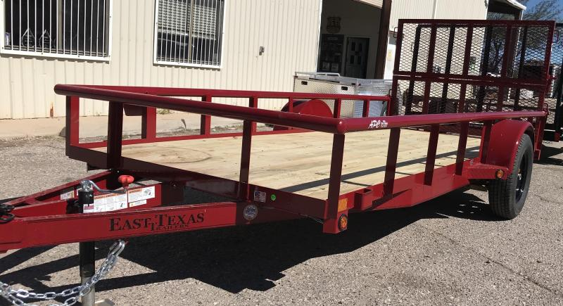 2018 East Texas 68X14 S/A Utility Trailer