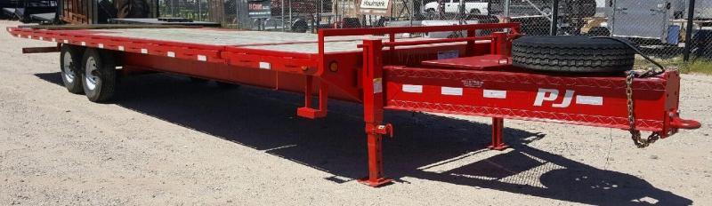 2013 PJ Trailers Used 102x28 16k Pintle Tilt Deck Flatbed Trailer