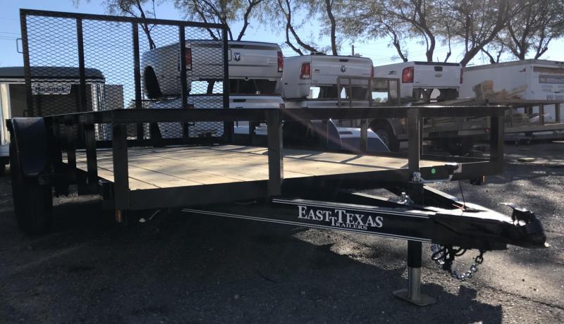 2018 East Texas 77x12 SA Utility Trailer