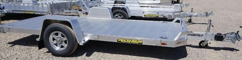 2019 Aluma 8214 HS Tilt w/ Lock Out Utility Trailer
