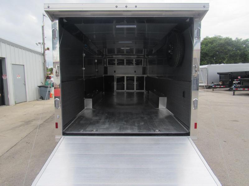 2020 28' All Aluminum Race Trailer with Premium Escape Door