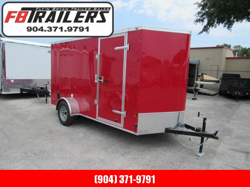 2020 Continental Cargo Red 6x12 Enclosed Cargo Trailer