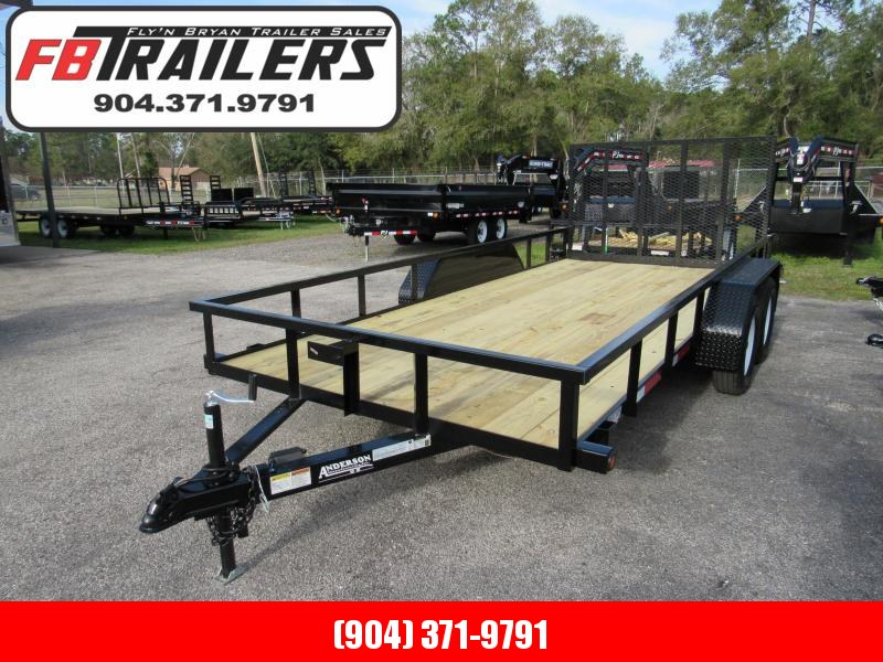2019 Anderson Manufacturing 7X16 Utility Trailer