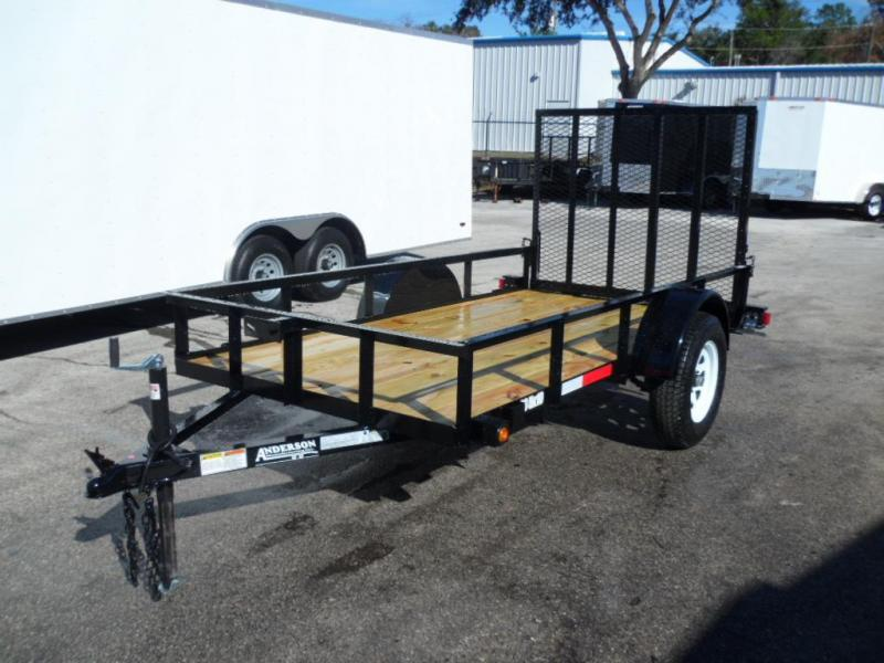 2017 5x10  Radial Tire Open Utility Trailer By  Anderson Manufacturing
