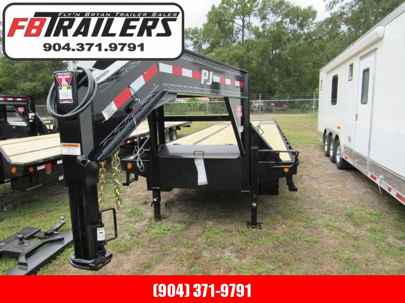 2019 40' Gooseneck by PJ Trailers 35 plus 5 Monster Ramps