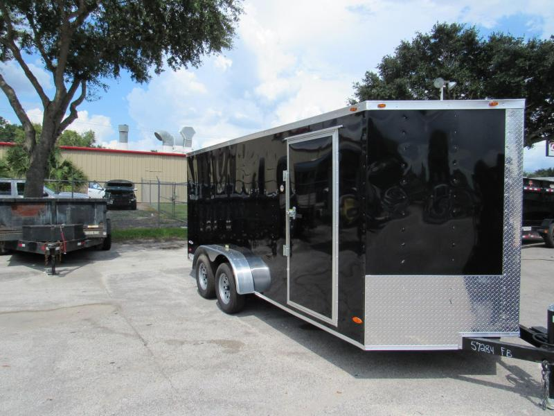 2019 Freedom Trailers 7X16 Enclosed Cargo Trailer