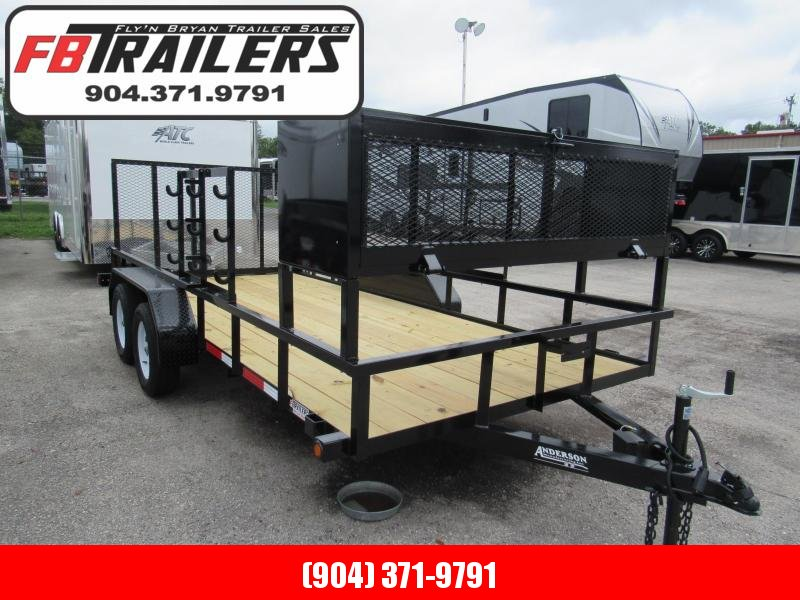 2020 Anderson Manufacturing 7X16 Landscape Package Utility Trailer