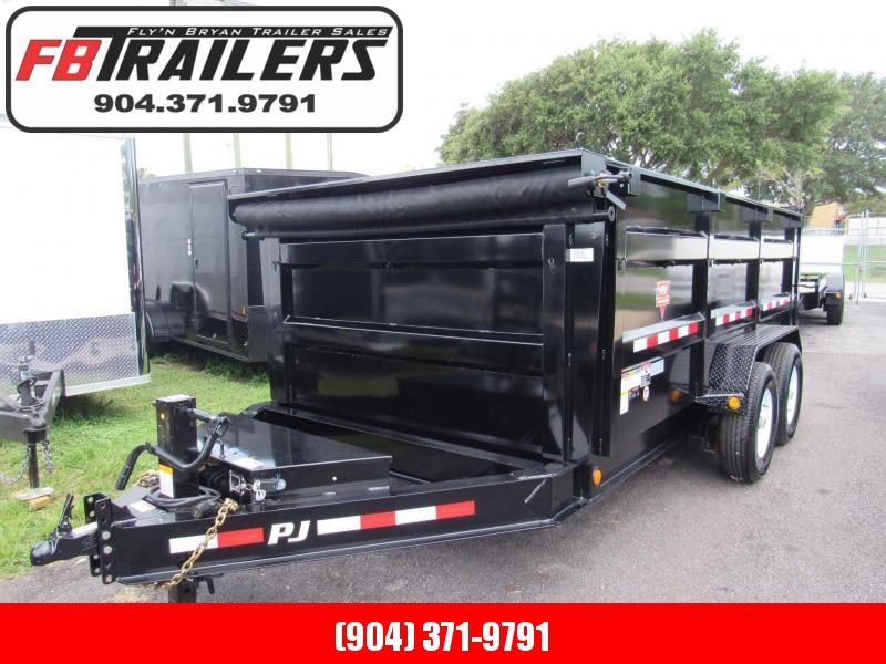 2019 PJ Trailers 7X14 4ft High Sides Dump Trailer