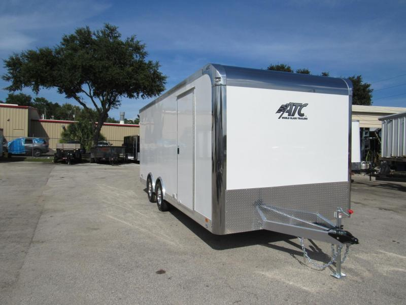 2019 ATC 20 ft Spread Axles with Premium Escape Door Car / Racing Trailer