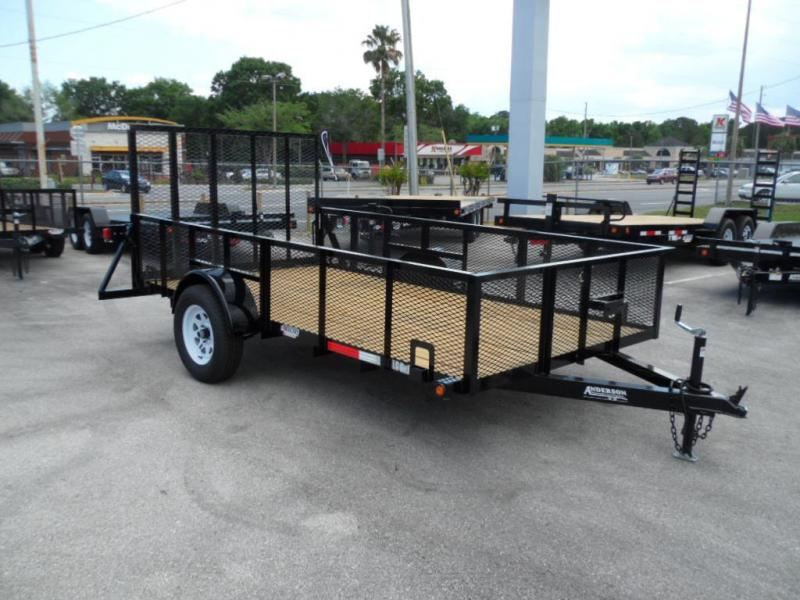 2018 6 x 12  Open Utility with Two Foot Mesh Side by Anderson Mfg
