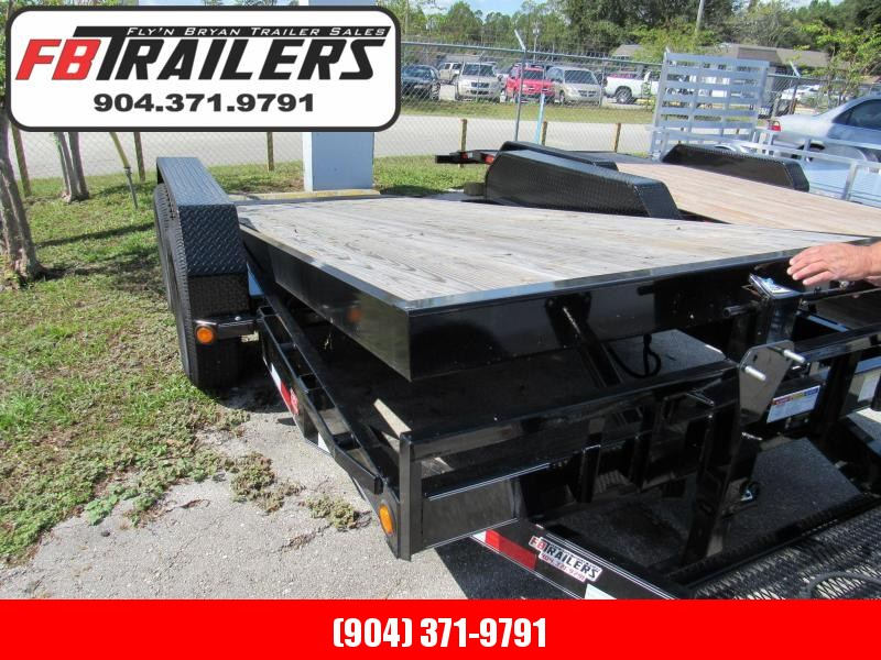 "2019 PJ Trailers 16' x 6"" Channel Equipment Tilt Trailer"