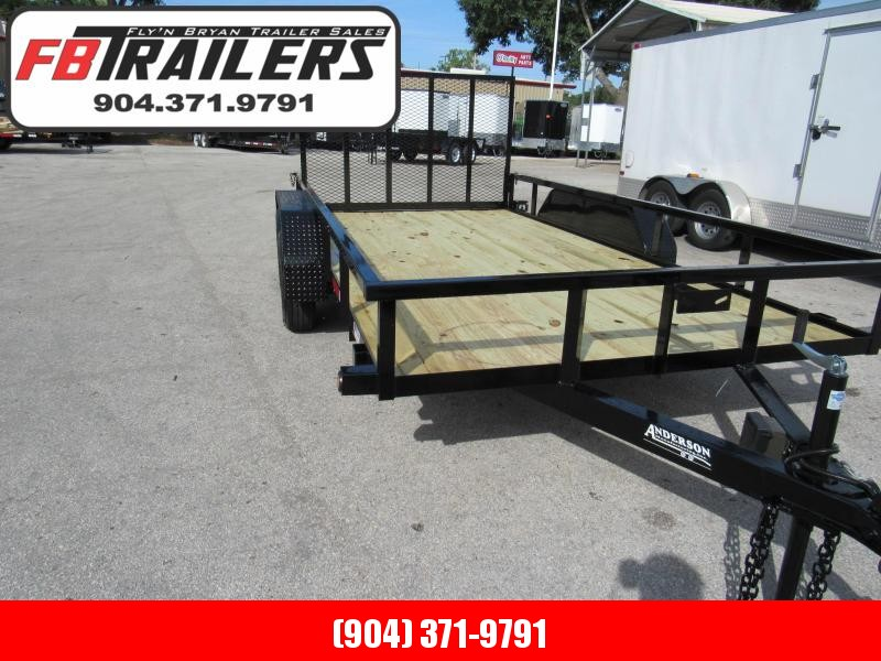 2019 Anderson Manufacturing 7X14 Utility Trailer