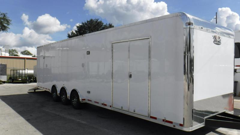 2018  34' Vintage Bath Package Pro Stock Race Trailer