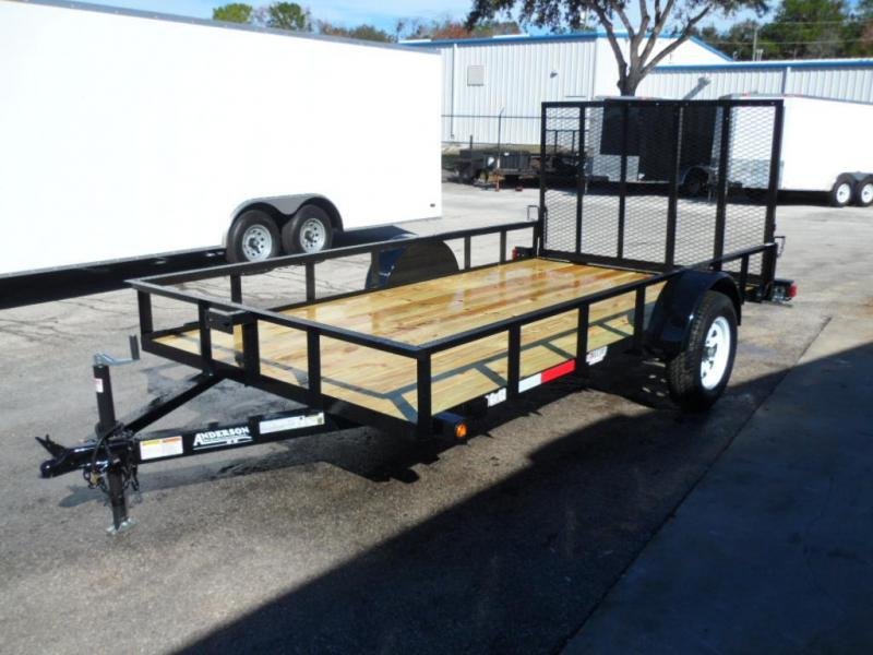 2018 6x12 Open Utility Trailer By  Anderson Manufacturing