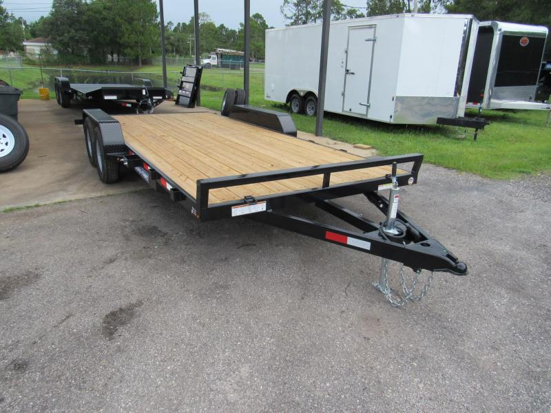 2019 Sure-Trac 18ft Wood Deck Car Hauler Open Car / Racing Trailer