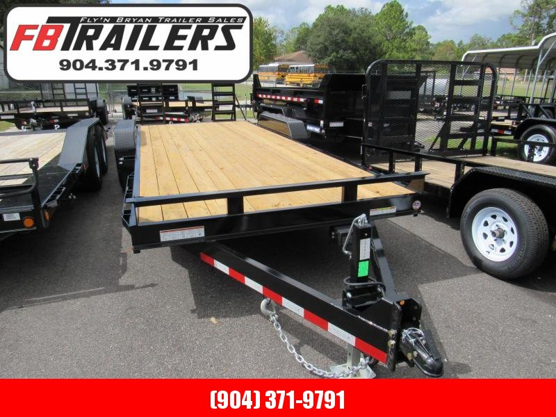 2019 Sure-Trac 20 ft with Stand up Ramps Equipment Trailer