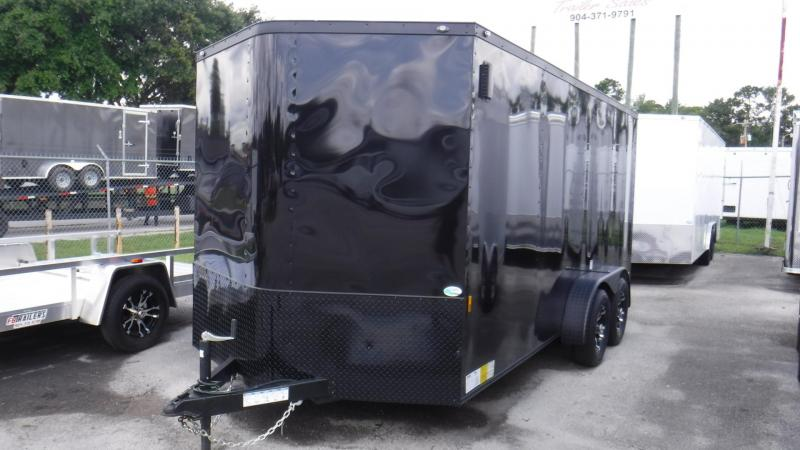 2019 7X16 BLACKOUT CARGO TRAILER