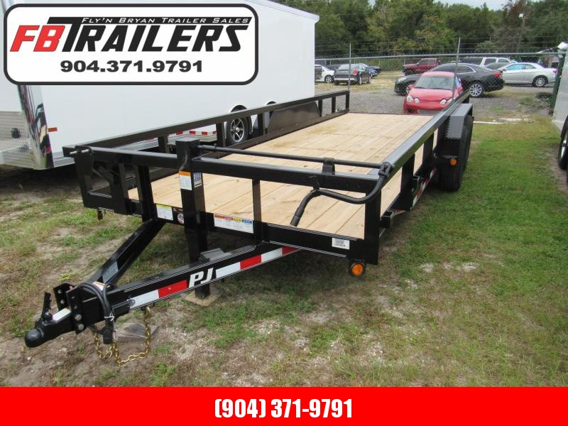 2019 PJ Trailers 20 ft HD Slide in Ramps Equipment Trailer