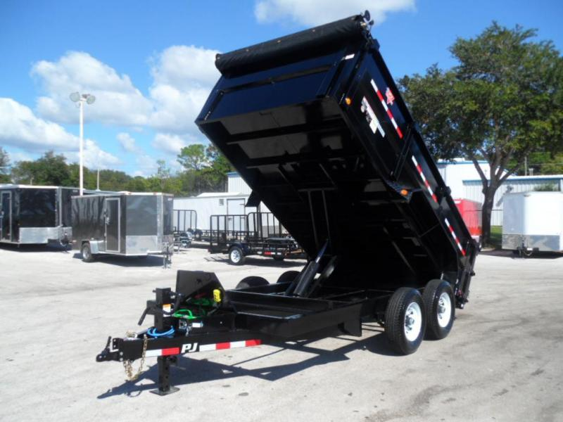 2018 PJ 7x14 4' High Side Dump Trailer