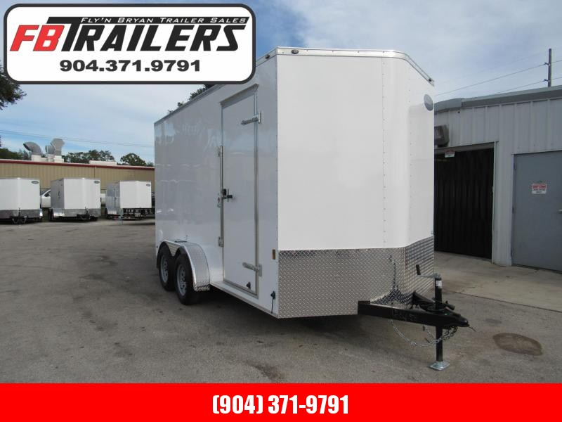 2019 Continental Cargo 7X14 with 12 in Additional Interior Ht Enclosed Cargo Trailer