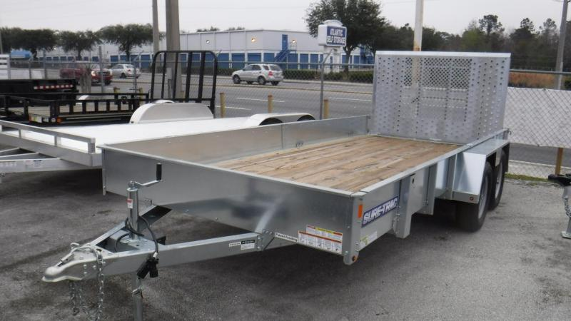 2018 7x16  Galvanized  Open Utility Trailer by Sure Trac