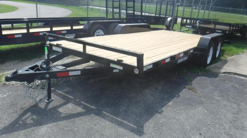 2018 18' Open Deck Car Hauler  by Sure Trac
