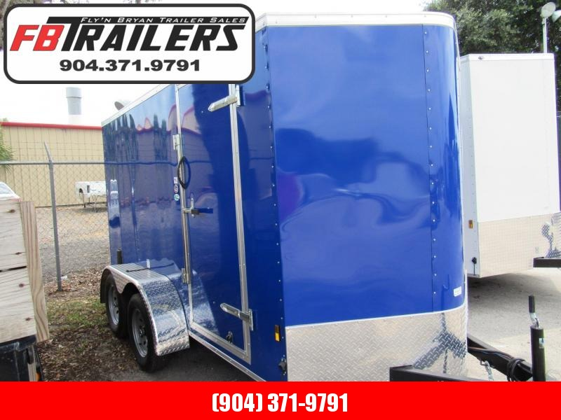 2020 Continental Cargo Blue Tandem 6x12 Enclosed Cargo Trailer