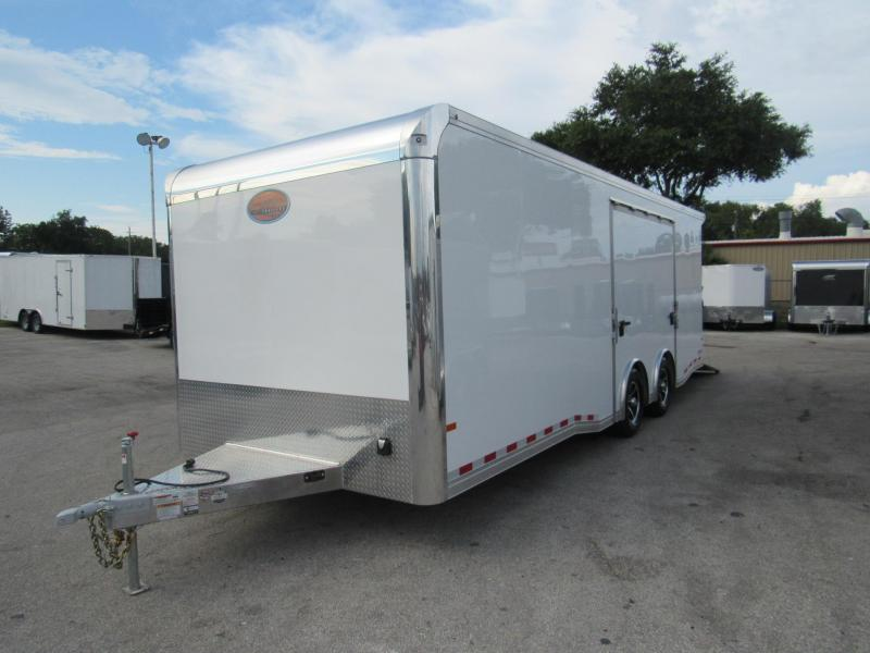 2019 24ft All Aluminum  Premium Escape Door Race Trailer