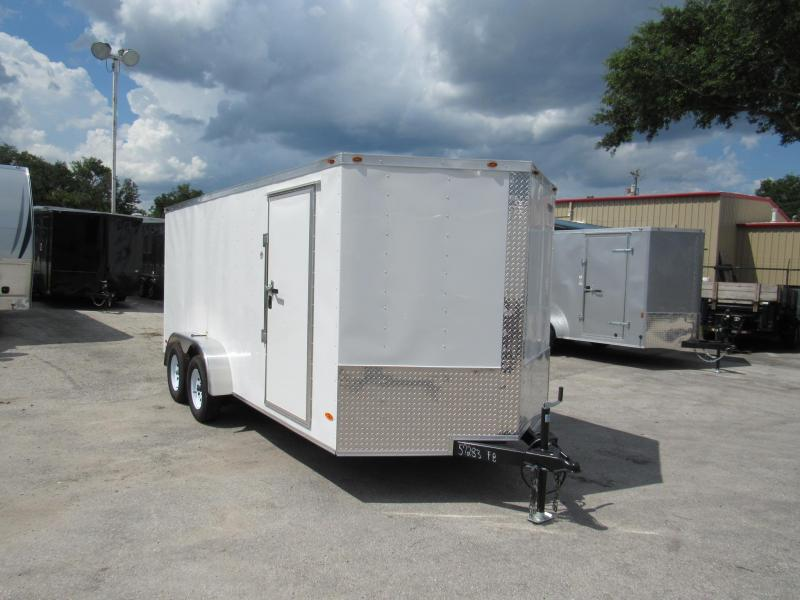 2019 Freedom Trailers 7X16 Ramp Door Enclosed Cargo Trailer