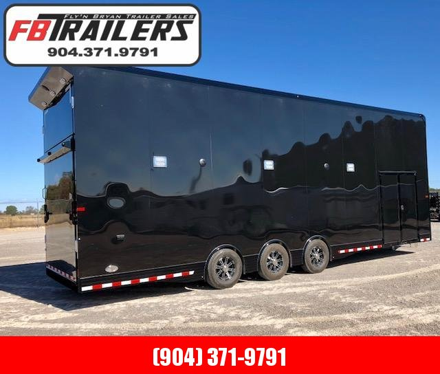 2019 32' Black Out  Stacker race Trailer By Sundowner Trailers