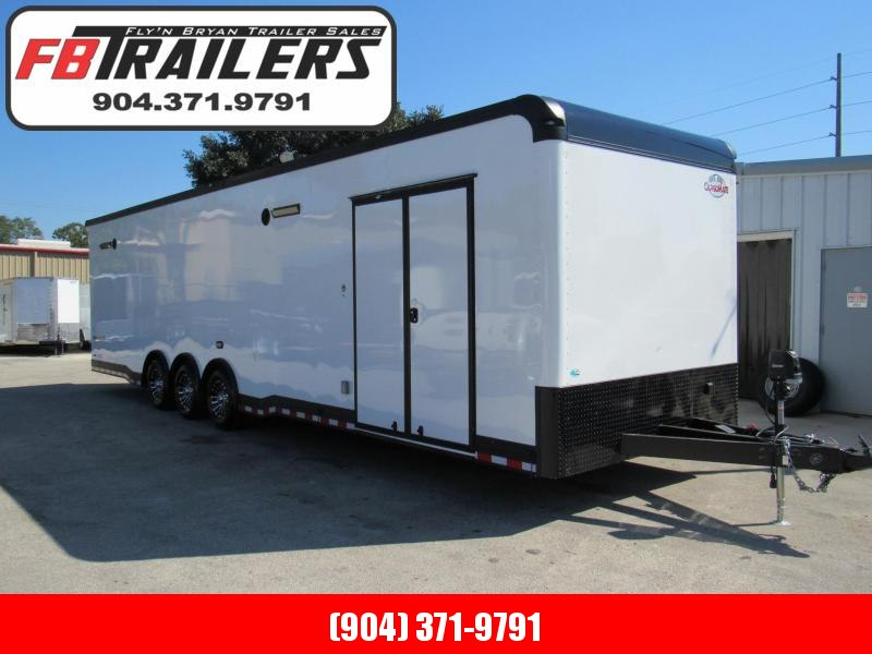 2019 Spread Axle  8.5X34 Eliminator Race Trailer with Rear Spoiler
