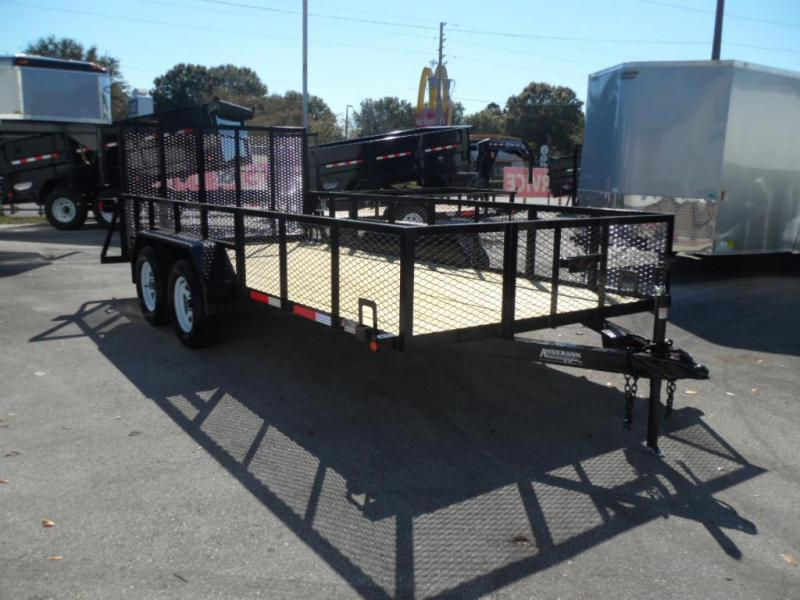 2017 7x16 Open Utility with 2' Mesh Sides by Anderson Mg