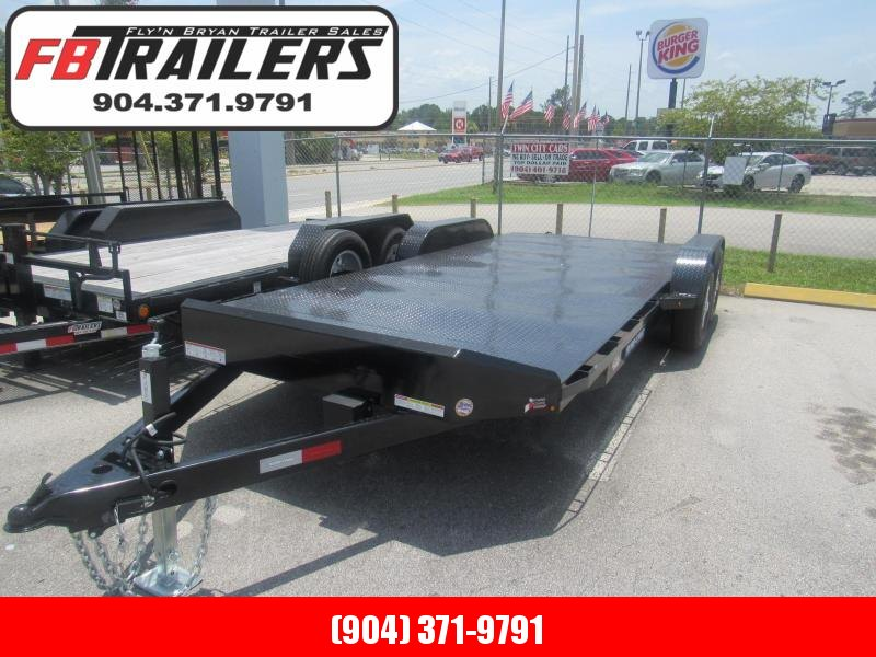 2020 Sure-Trac 20' Steel Deck Open Car Hauler Car / Racing Trailer