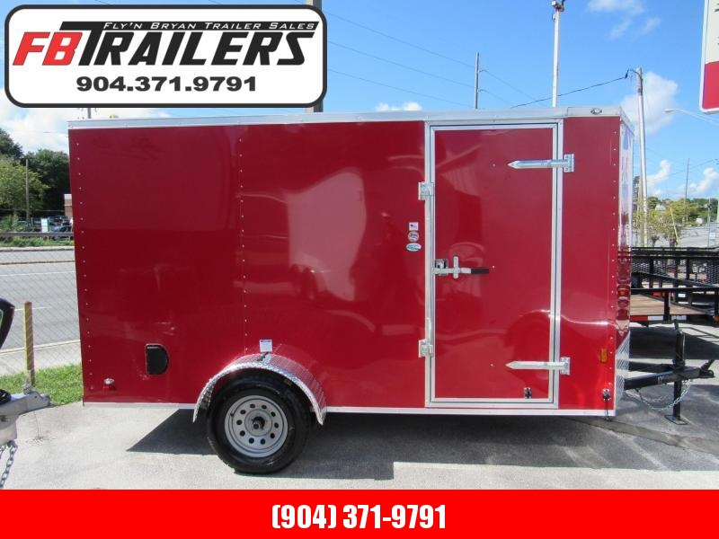 2020 Continental Cargo Red Enclosed Cargo Trailer