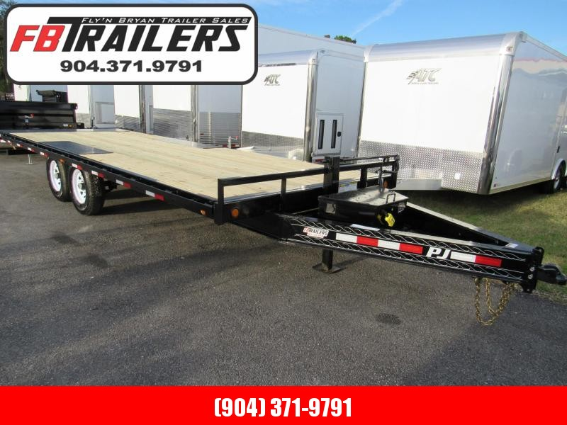 2019 PJ Trailers 22 ft Deckover Tilt Equipment Trailer