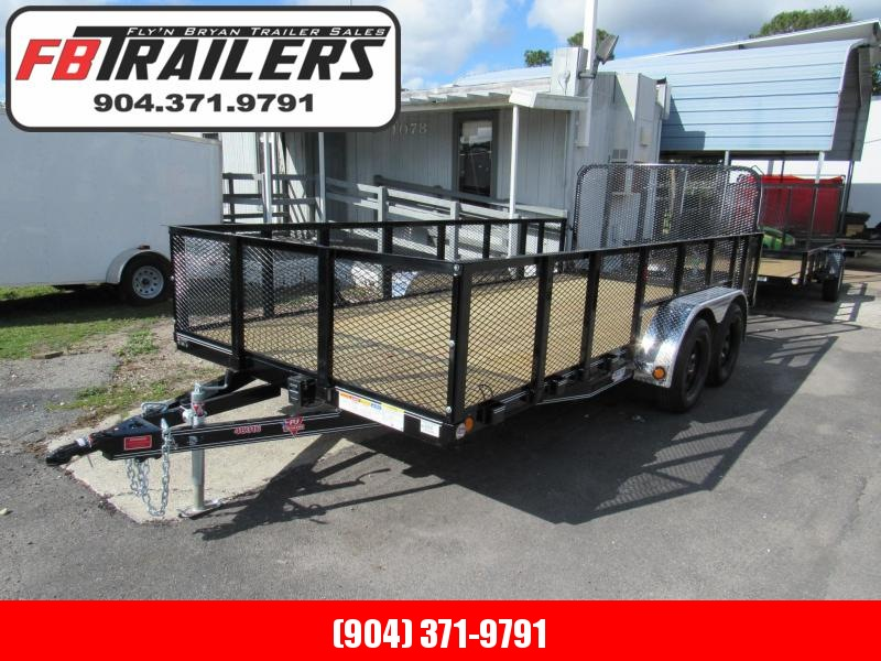 2019 PJ Trailers 16 ft with 2 Mesh Sides Utility Trailer