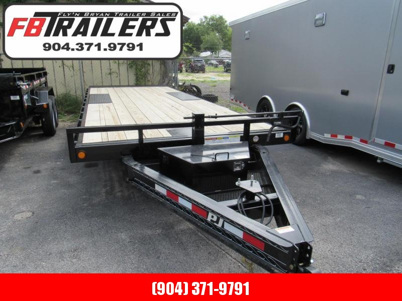 2020 PJ Trailers 22' Full Tilt Deckover Equipment Trailer