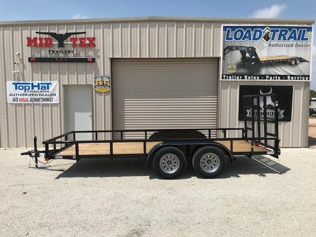 2019 Top Hat Trailers LDX 77X16 Utility Trailer