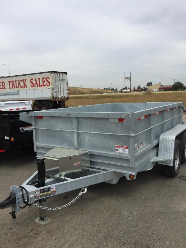 2016 Iron Panther D10LD Galvanized Dump Trailer 6.5x10