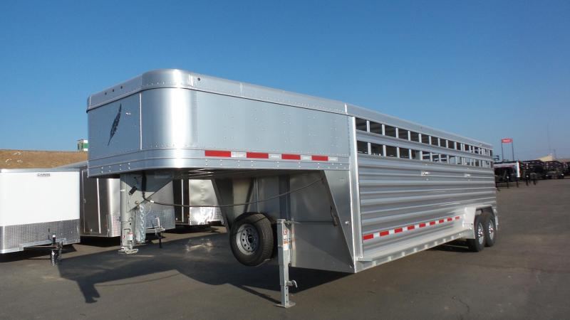 "2018 Featherlite 7'0""X24'X6'6"" Stock Combo Trailer"