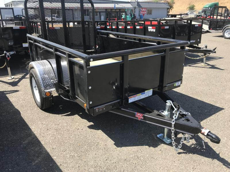"2019 PJ Trailers 8X60"" Single Axle Channel Utility"