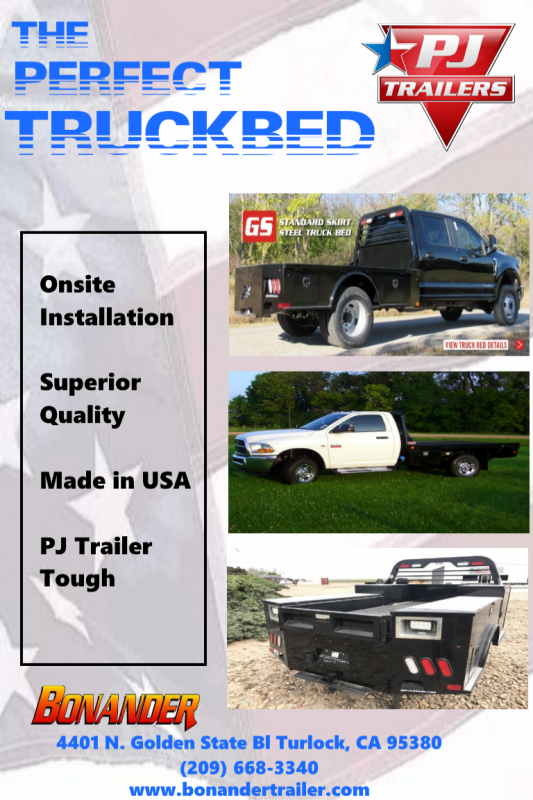 2017 PJ Trailers TB GB 94/94/60/34 SD 2RTB Truck Bed