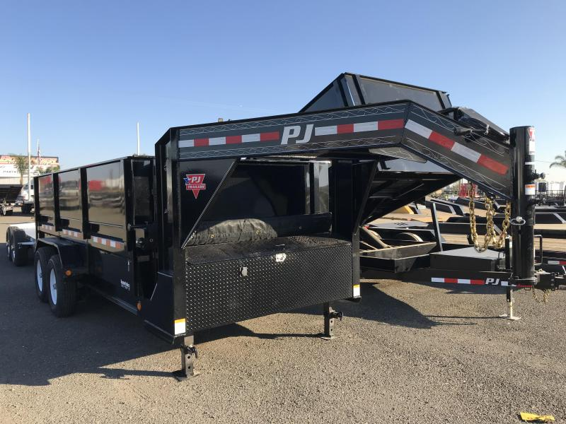 2018 PJ Trailers 16X83 Low Pro XL Dump Trailer