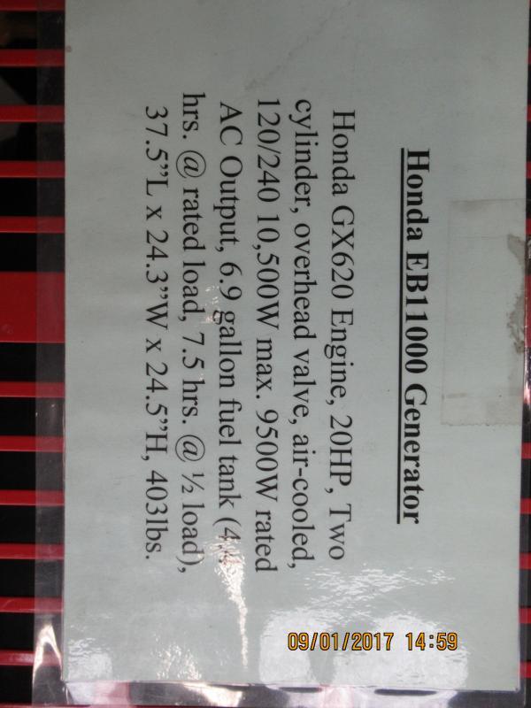 Honda EB11000 Generator