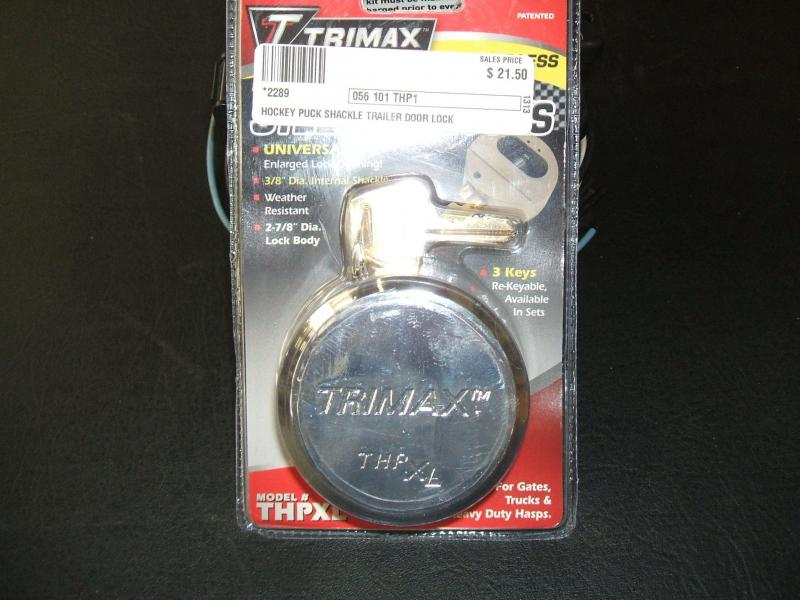 Hockey Puck Shackle Door Lock