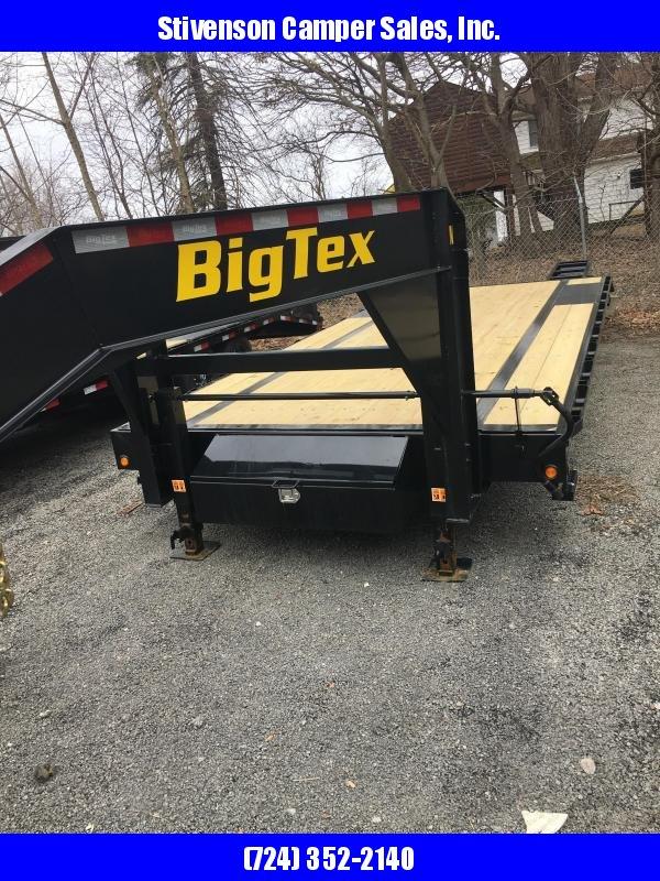 2019 Big Tex 14GN 20+5 Single Wheel Tandem Axle Equipment Trailer