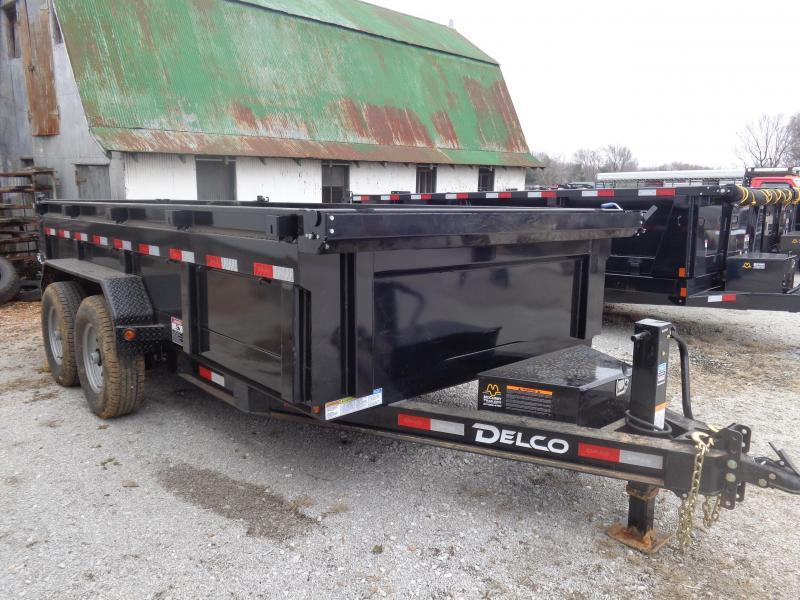"""Delco 83"""" x 14' Low-Pro Bumper Pull Dump Trailer"""